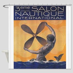Merman with Ship Propeller; Vintage Poster Shower