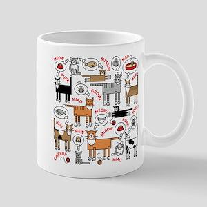 Cats Thinking Mugs