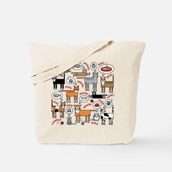 Cats Thinking Tote Bag