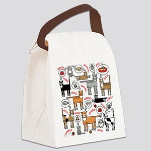 Cats Thinking Canvas Lunch Bag