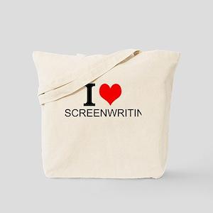 I Love Screenwriting Tote Bag
