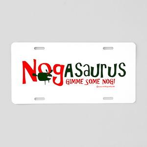 Eggnog - Nogasaurus Aluminum License Plate