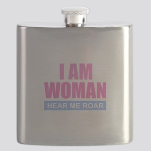 I Am Woman - Hear Me Roar Flask