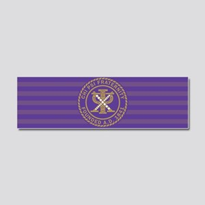 Chi Psi Fraternity Car Magnet 10 x 3