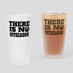 There Is No Offseason Wrestling Drinking Glass