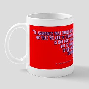 Teddy Says Blue Raised Mug
