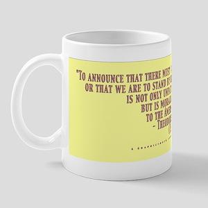 Teddy Says Gold Raised Mug