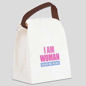 I Am Woman - Hear Me Roar Canvas Lunch Bag