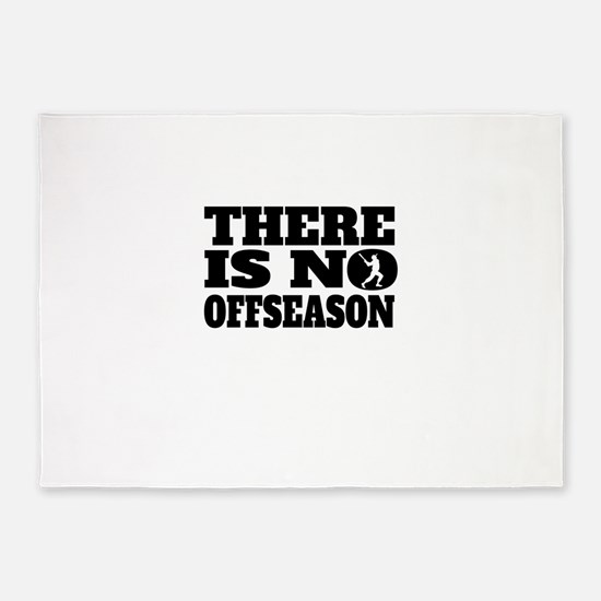 There Is No Offseason Baseball 5'x7'Area Rug