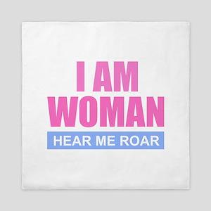 I Am Woman - Hear Me Roar Queen Duvet
