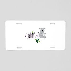 Koalafied Aluminum License Plate