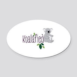 Koalafied Oval Car Magnet