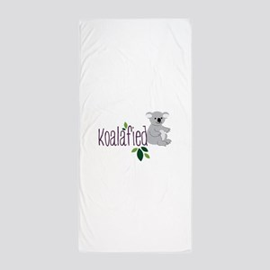 Koalafied Beach Towel