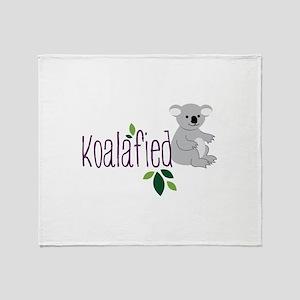 Koalafied Throw Blanket