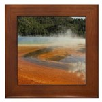 Grand Prismatic Spring Yellowstone Framed Tile
