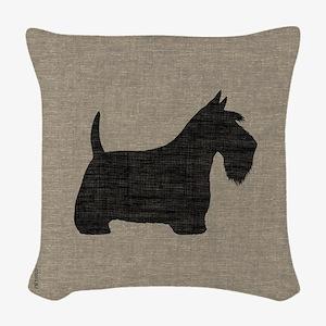 Scottish Terrier Woven Throw Pillow