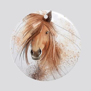 Horse Painting Round Ornament