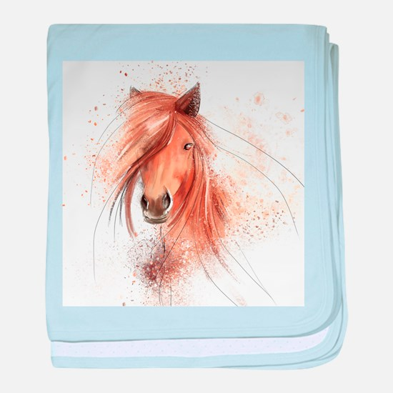 Horse Painting baby blanket