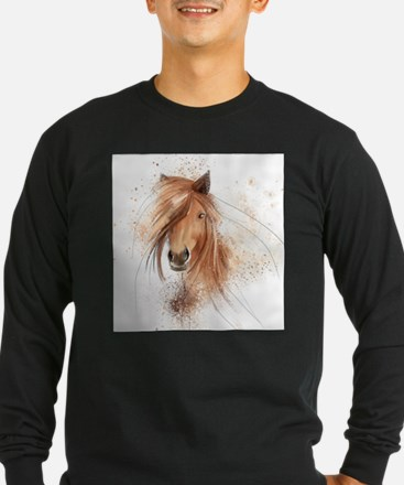 Horse Painting Long Sleeve T-Shirt