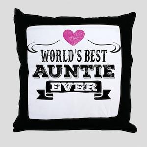 World's Best Auntie Ever Throw Pillow