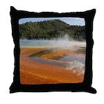 Grand Prismatic Spring Yellowstone Throw Pillow