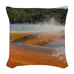 Grand Prismatic Spring Yellowstone Woven Throw Pil
