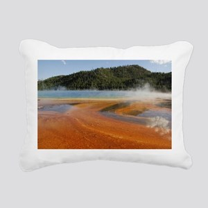 Grand Prismatic Spring Rectangular Canvas Pillow