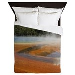 Grand Prismatic Spring Yellowstone Queen Duvet