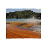 Grand Prismatic Spring Yellowstone Throw Blanket