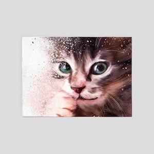 Kitten Painting 5'x7'Area Rug