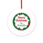 Custom Christmas Reef Round Ornament
