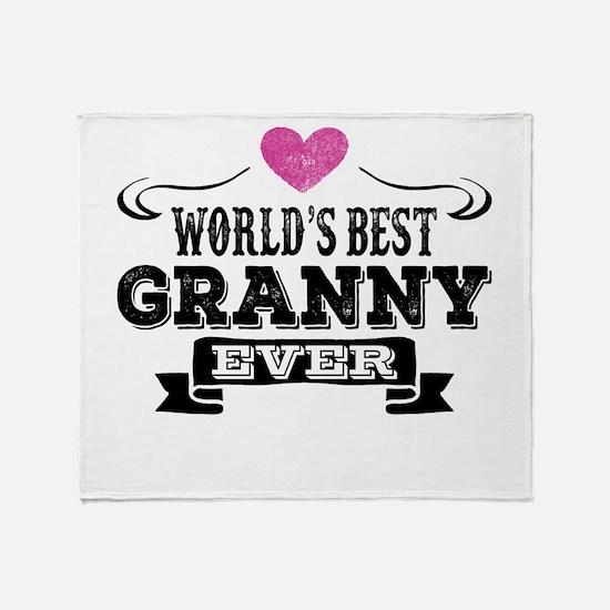 World's Best Granny Ever Throw Blanket