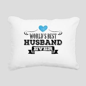 Worlds Best Husband Ever Rectangular Canvas Pillow