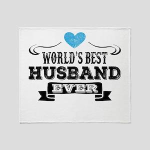 Worlds Best Husband Ever Throw Blanket