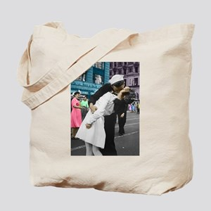 The WWII Kiss Tote Bag