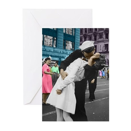 The WWII Kiss Greeting Cards (Pk of 20)