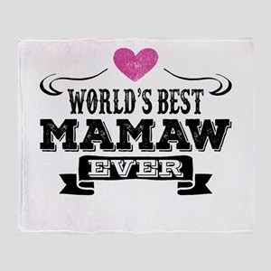World's Best Mamaw Ever Throw Blanket
