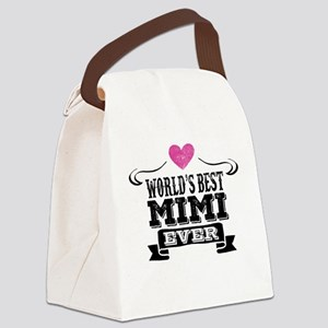Worlds Best Mimi Ever Canvas Lunch Bag