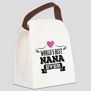 World's Best Nana Ever Canvas Lunch Bag