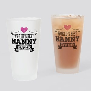 World's Best Nanny Ever Drinking Glass