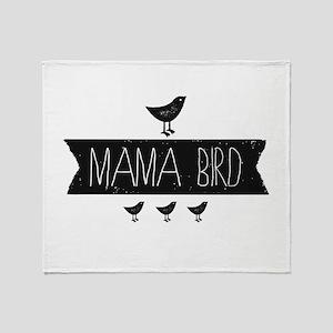 Mama Bird Throw Blanket