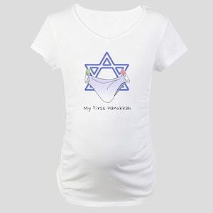 My First Hanukkah Maternity T-Shirt