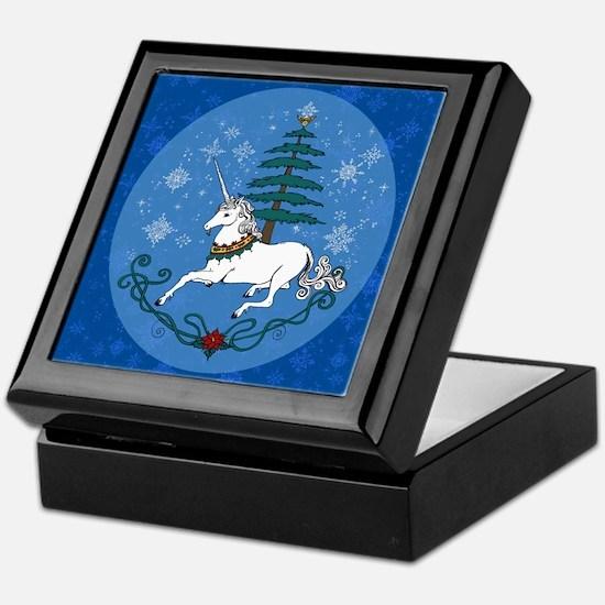 Holiday Unicorn Keepsake Box