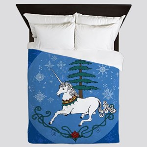 Holiday Unicorn Queen Duvet