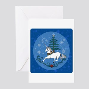 Holiday Unicorn Greeting Cards