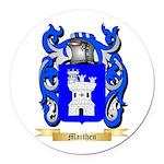Marthen Round Car Magnet