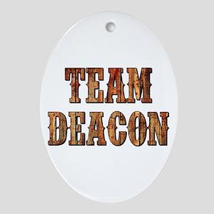 TEAM DEACON Oval Ornament