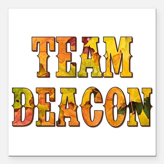 "TEAM DEACON Square Car Magnet 3"" x 3"""