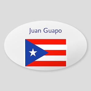 Juan Custom Puerto Rican Flag Boricua Sticker