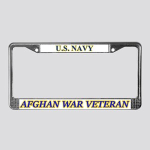 Us Navy Afghan War Veteran License Plate Frame